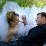 Свадебная прогулка на поляне любви в Старом Осколе.