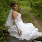 Свадьба Дениса и Марианны, август 2009 год. На свадебной прогулке в лесу.