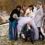 На свадебной прогулке фотосъёмка