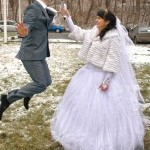 Свадебная прогулка зимой на videostart.ru